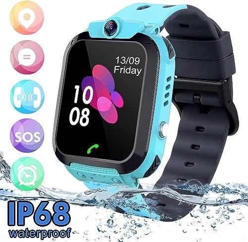 SZBXD Kids Waterproof SmartWatch Phone light blue and black