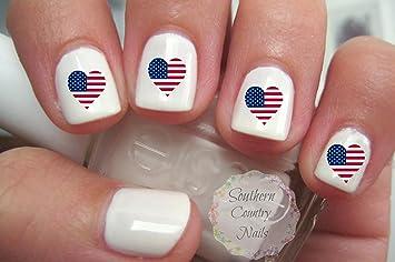 Us flag nail art