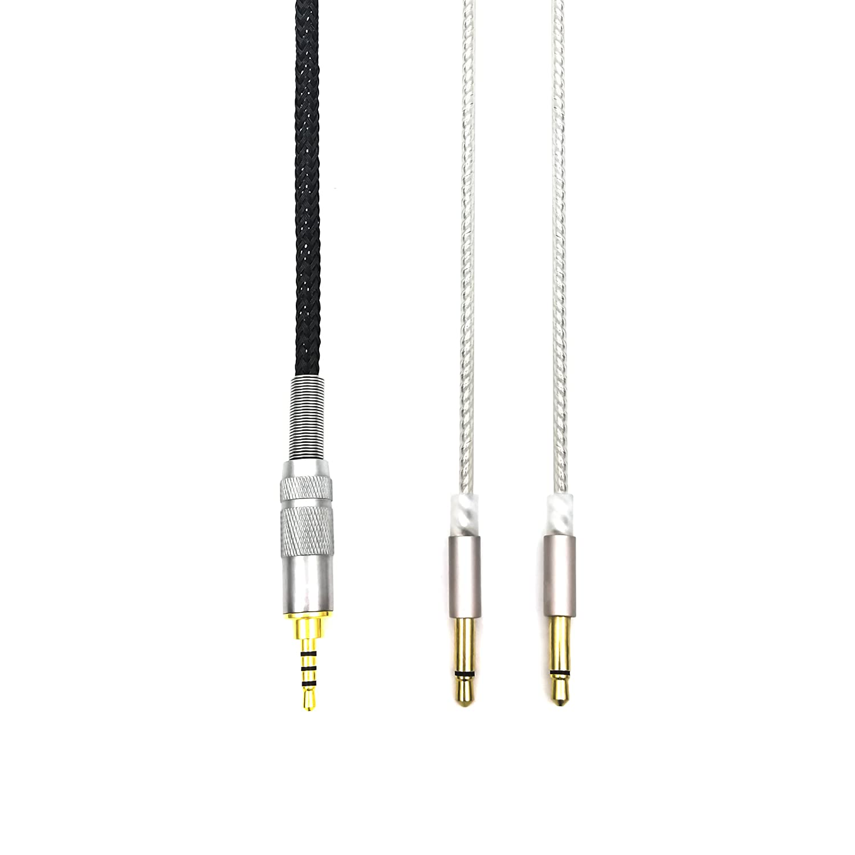 HIFI cable with 2.5mm Trrs Balanced Male for Denon AH-D7200, AH-D7100, AH-D600, Meze 99 headphone and Astell&Kern AK240 AK380 AK320 onkyo DP-X1 FIIO X5III XDP-300R iBasso DX200 Sukira 4330155757