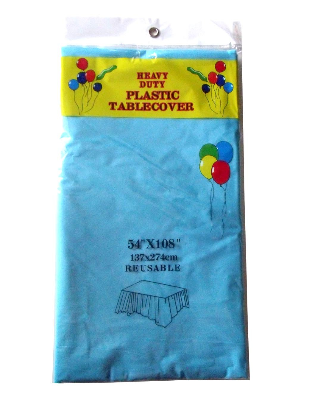 3 Pack Blue sunonline 3 Pack Disposable Tablecloth 54 108 Rectangle Plastic Party Table Cloth Covers for Party Easily Blue