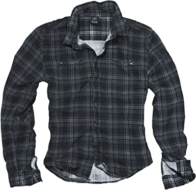Brandit Camisa Wire Hombre Manga Larga Gris Oscuro/Negro, Regular: Amazon.es: Ropa y accesorios