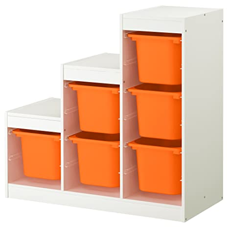 Zigzag Trading Ltd IKEA TROFAST - Combinación almacenaje Blanco/Naranja