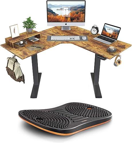 FEZIBO L-Shaped Standing Desk - the best home office desk for the money
