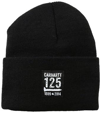 0cbbc8e8da5e9 Carhartt 101221 M 125Th Watch Hat Black OFA  Amazon.co.uk  Clothing