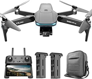 S189 GPS Drones for Adults with 4K UHD Wifi Camera, 5G FPV Live Video,90 Adjustable,Quadcopter Foldable for Beginners with Brushless Motor,Auto Return Home,Follow Me
