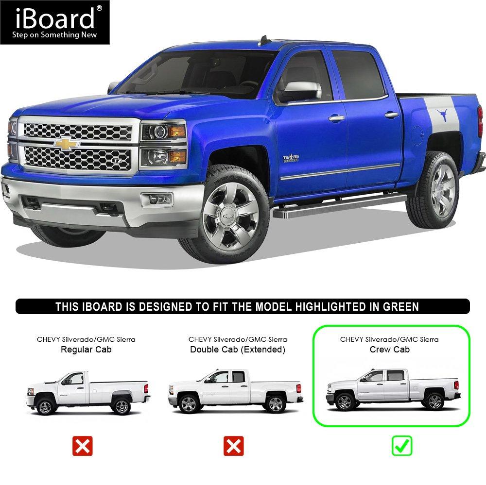 Aps Premium Tabla De Correr Para Chevy Silverado Gmc Sierra Crew Accesorios Camionetas Cabo 1016 Cm Automotriz Y Motocicletas