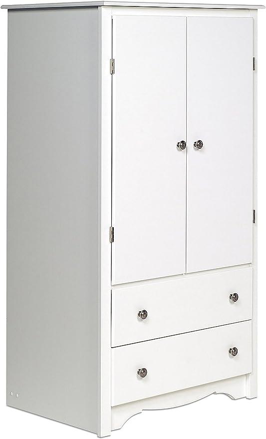 Amazon Com Prepac White Monterey 2 Door Armoire Furniture Decor