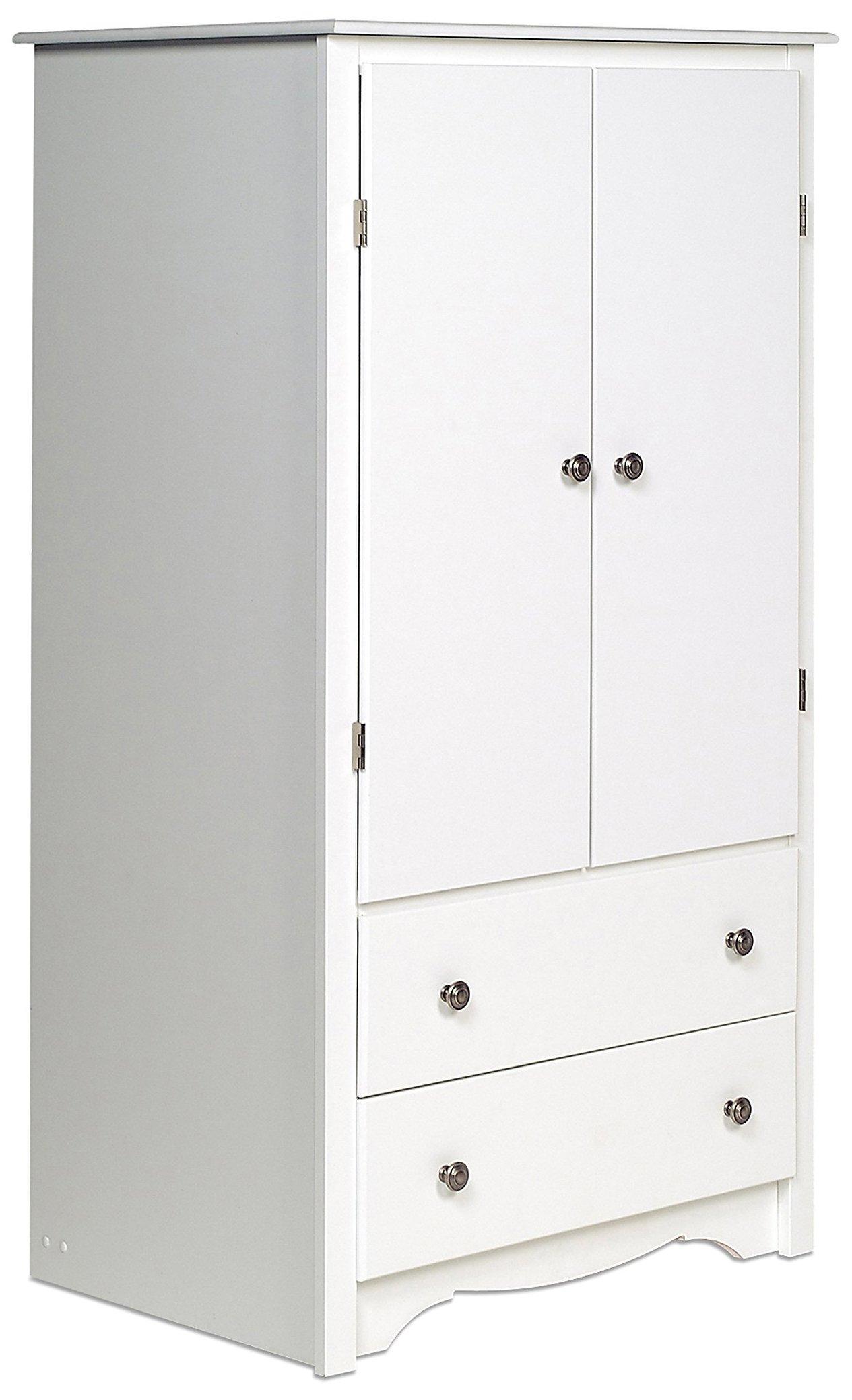 Prepac White Monterey 2 Door Armoire by Prepac