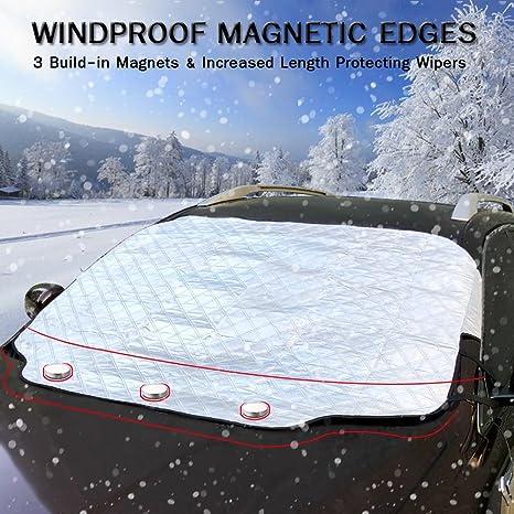 Amazon.es: Cubierta Magnética del Parabrisas, RebirthTree Cubierta de hielo Cubierta de Nieve Cubierta helada Anti UV Antihielo Impermeable Funda Protectora ...