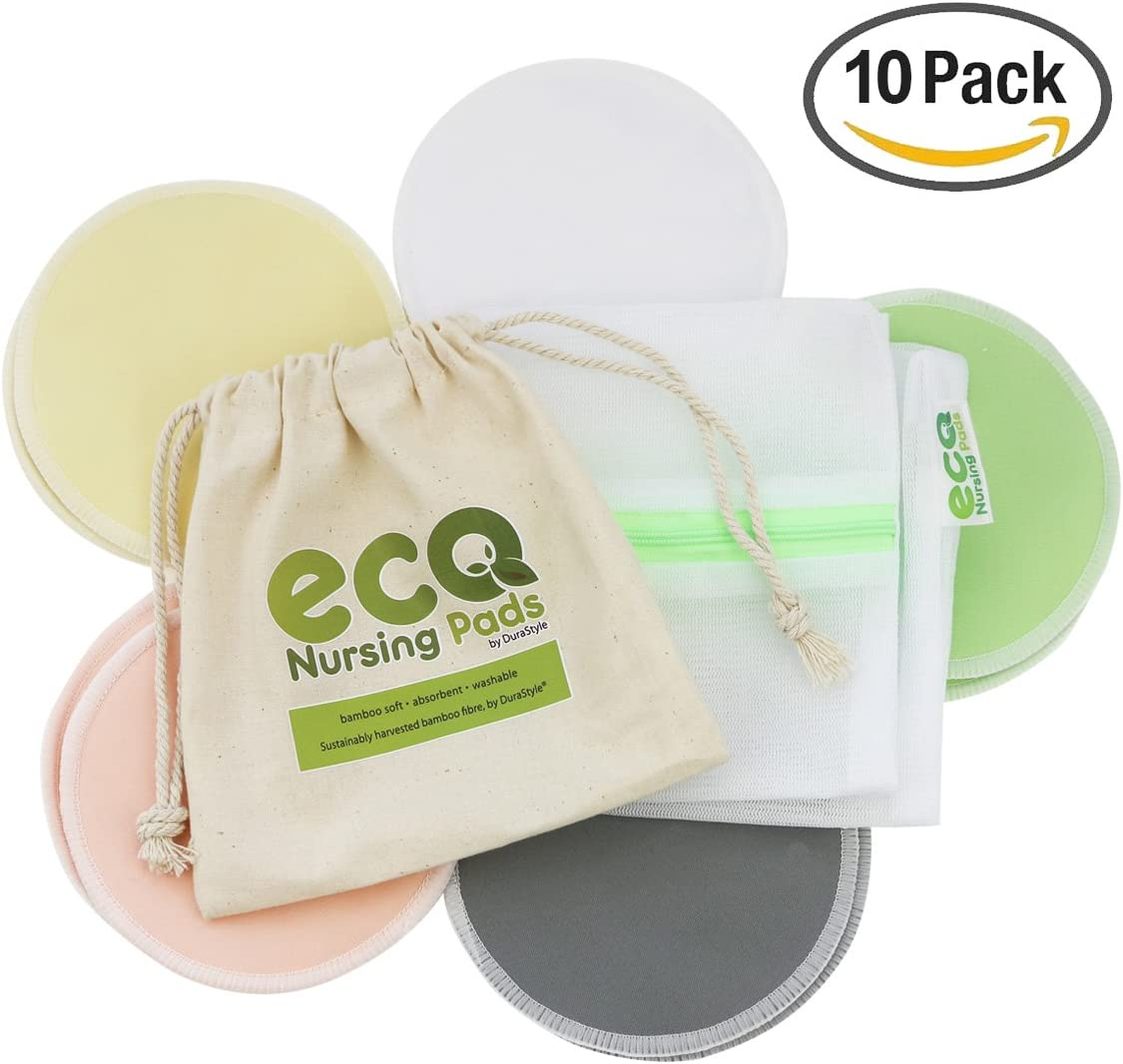 Ultra Soft Organic Bamboo Laundry /& Travel Bag Included Washable Reusable Eco Nursing Pads/™