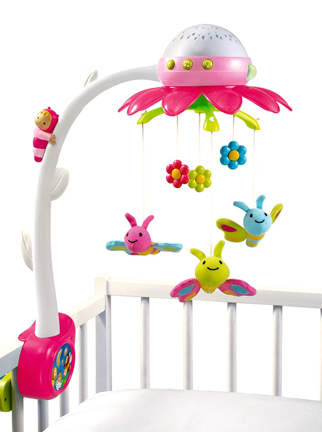 Smoby 7600211408 Cotoons Mobile Giocattolo Musicale, Rosa