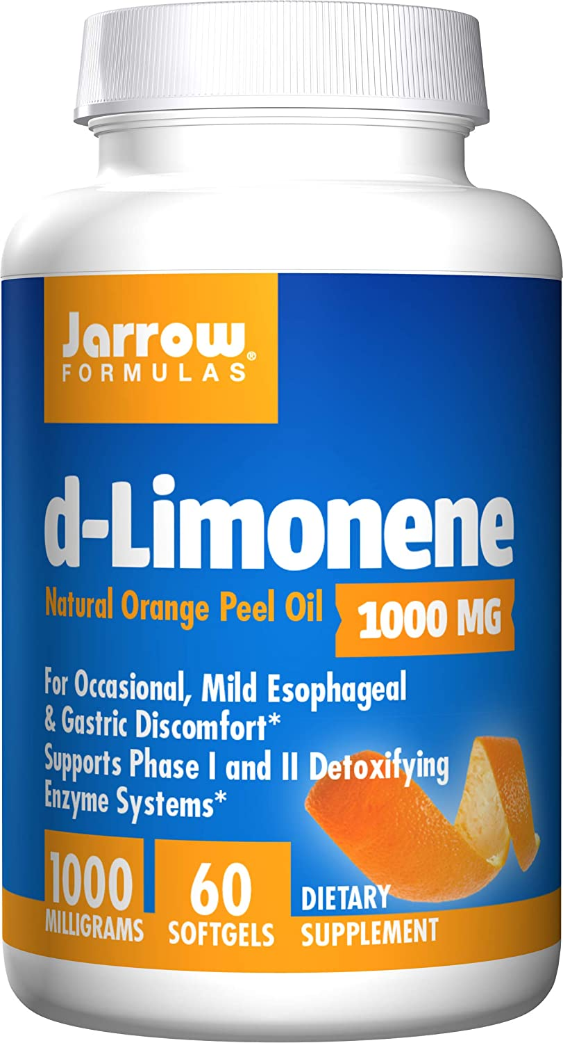Jarrow Formulas D-Limonene, Stimulates Phase I and Phase II Detoxifying Enzyme Systems As Well As The Overall Immune System*,1000 MG, 60 Softgels