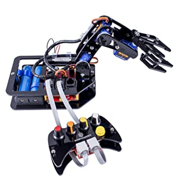 Sunfounder Diy Robotic Arm Kit 4 Axis Servo Control Rollarm With Wired Controller For Arduino Uno R3