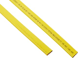product image for KH Industries FTCB-14/4-70 Flat Festoon Cable, PVC Jacket, 4 Conductor, 14 AWG, 70' Length, Yellow
