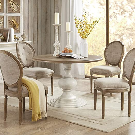 Lexi Dining Table Reclaimed Walnut/Antique Cream See Below