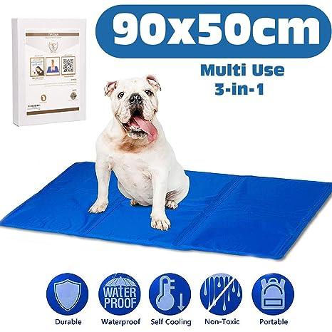 Manta refrescante para perros grandes, autorefrigerante que mantendra a su mascota fresca. Cojin para el verano. Distintas funciones: para cama o ...