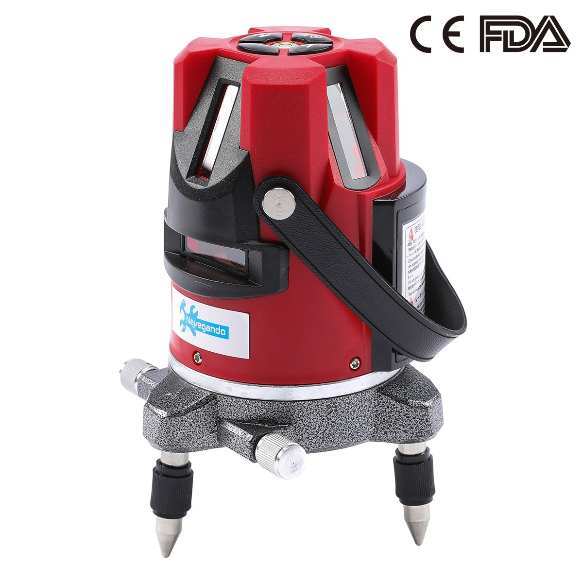 Navegando 5 Line 6 Point 360° Rotary Multipurpose Self-Leveling Output 4 Vertical 1 Horizontal Red Laser Lines Automatically Laser Marking Device Blow Box Kit