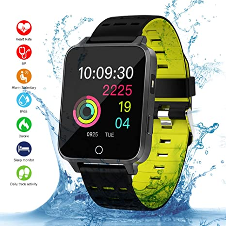 Smartwatch, Kivors Bluetooth SmartWatch IP68 Impermeable Relojes Inteligentes Pantalla Táctil con Monitor Cardiaco, Múltiples