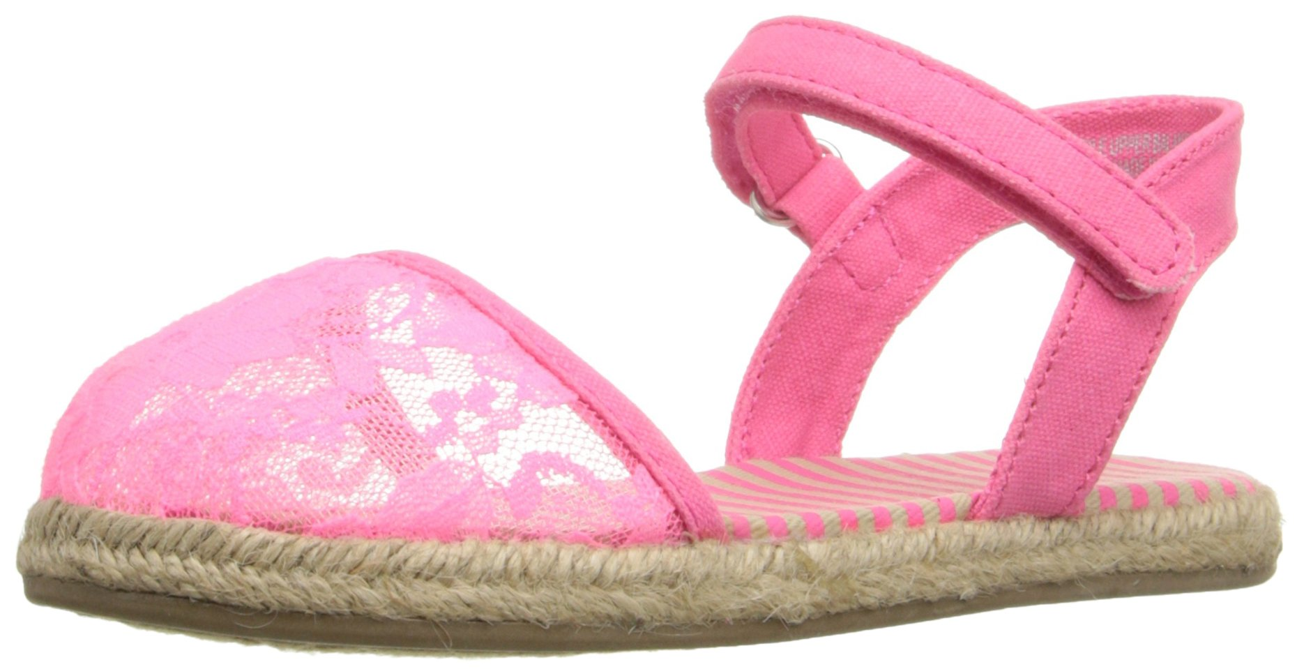 The Children's Place Lily Casual Toe Cap Meadow Flat (Toddler/Little Kid), Pink, 4 M US Toddler