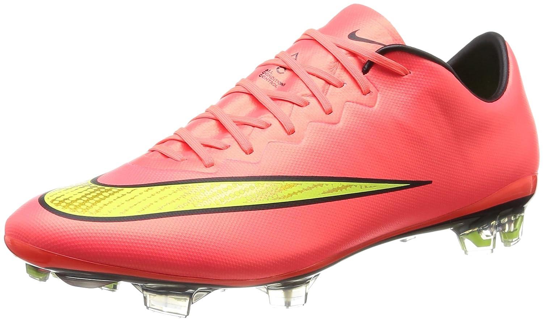 huge selection of 3b493 fdc2c Amazon.com   Nike Mercurial Vapor X FG Mens Football Boots 648553 Soccer  Cleats (US 12, Hyper Punch Metallic Gold Black Volt 690)   Soccer