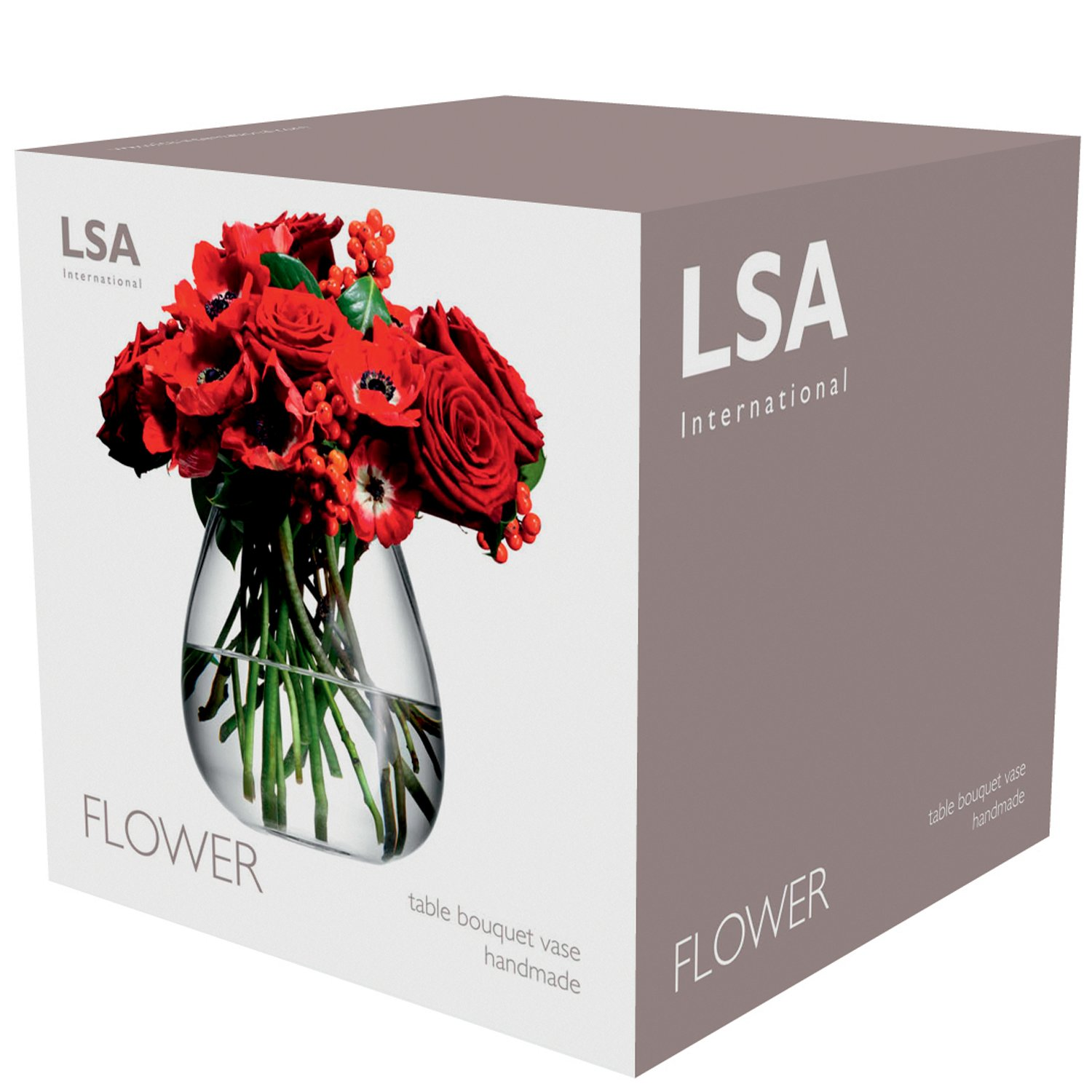Buy Lsa International Flower Table Bouquet Vase H675 Clear Online