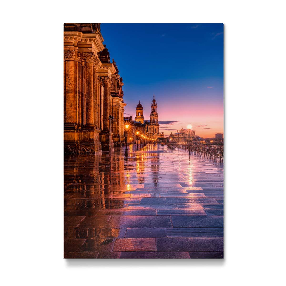 Bilder, Poster, Kunstdrucke & Skulpturen artboxONE Galerie-Print 30x20 cm Dresden Skyline Portrait hochwertiges Acrylglas auf Alu-Dibond von Michael Tompsett Glasbilder