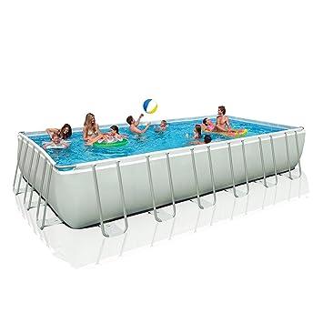 intex rectangular ultra frame pool set 24 feet by 12 feet by 52