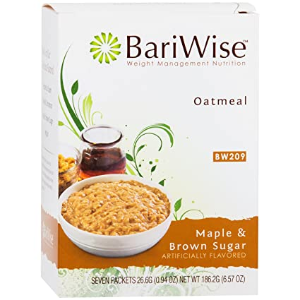 BariWise Low-Carb High Protein Oatmeal / Instant Diet Hot Oatmeals - Maple & Brown Sugar (7 Servings/Box) - Low Carb, Low Calorie, Low Fat, Aspartame ...