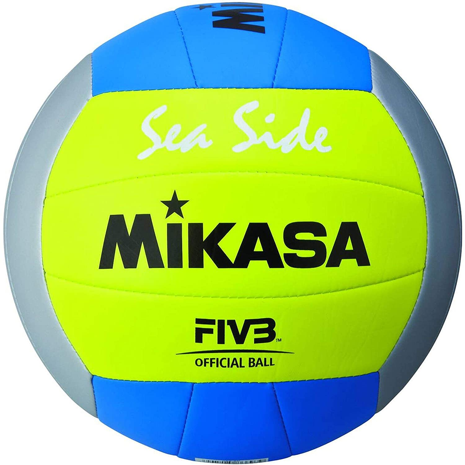 Mikasa Beach Voleibol AL-1679 Beach Voleibol, Amarillo, 5: Amazon ...
