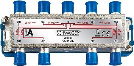 Schwaiger Vtf8848241 High End Verteiler 8 Fach Für Bk Elektronik