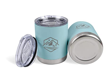 30df34918f6 10 oz Lowball Tumbler with Lid, Set of 2, Vacuum Insulated Stainless Steel,