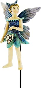 "Georgetown Mini Fairy Garden Figurine Holding Glow in The Dark Lantern, 4"" (Nia)"