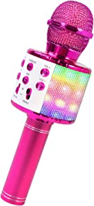 ShinePick Bluetooth Karaoke Wireless Microphone, 4 in 1 Karaoke Machine Portable Microphone for Kids, Home KTV Player, Compatible with Android & iOS Devices (Purple)