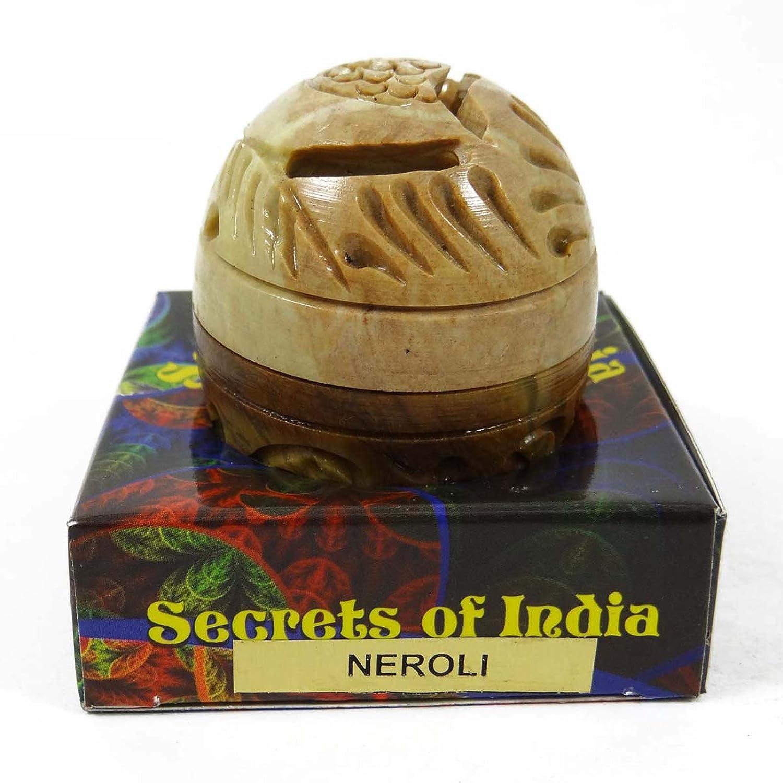 Natural Neroli Solid Perfume Body Musk In Stone Jar 8 Gms