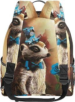 Lyetny Leopard Print Bookbag School Bags Daily Backpacks Daypack for Students