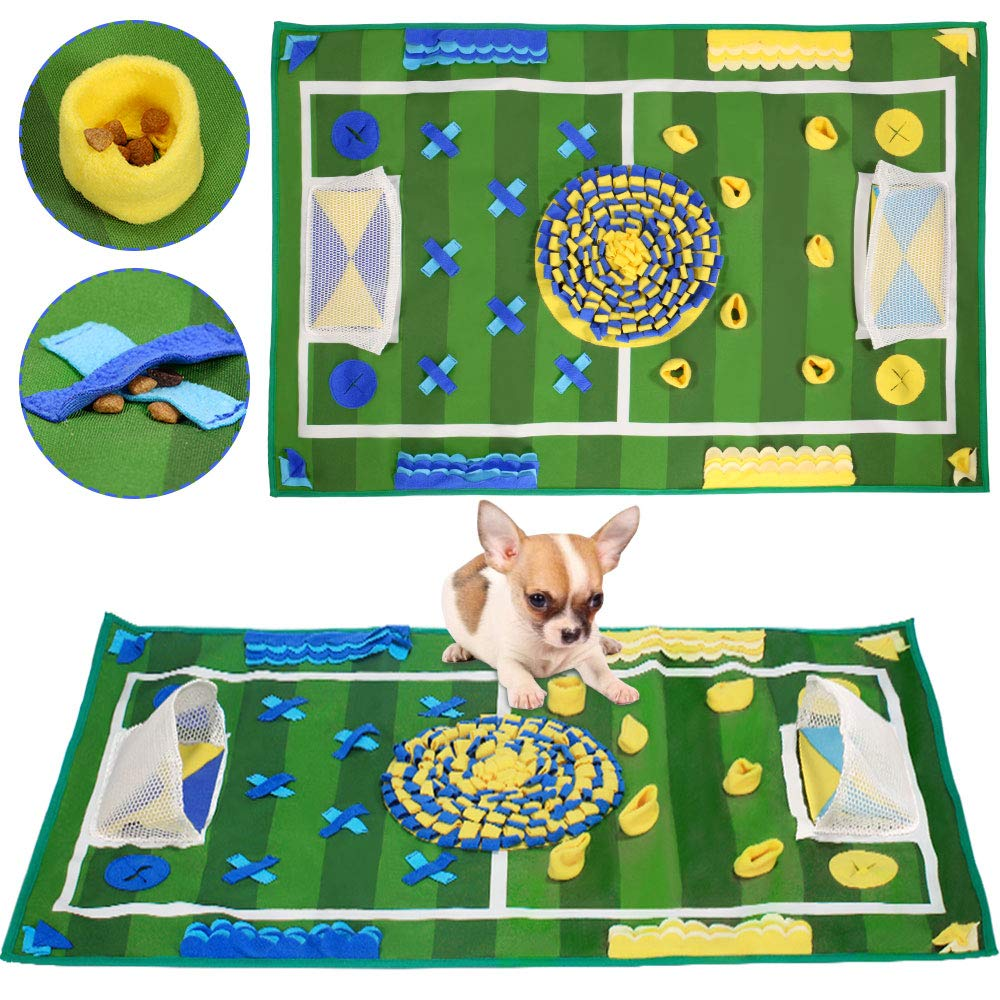 SlowTon Dog Snuffle Mat, Feeding Mat Puppy Nose Work Blanket Training Pad Pet Toy Slow Feeder Fun to Use Non Slip Activity Mat Encourage Natural Foraging Skill Stress Release (39.3'' x 25.5'')