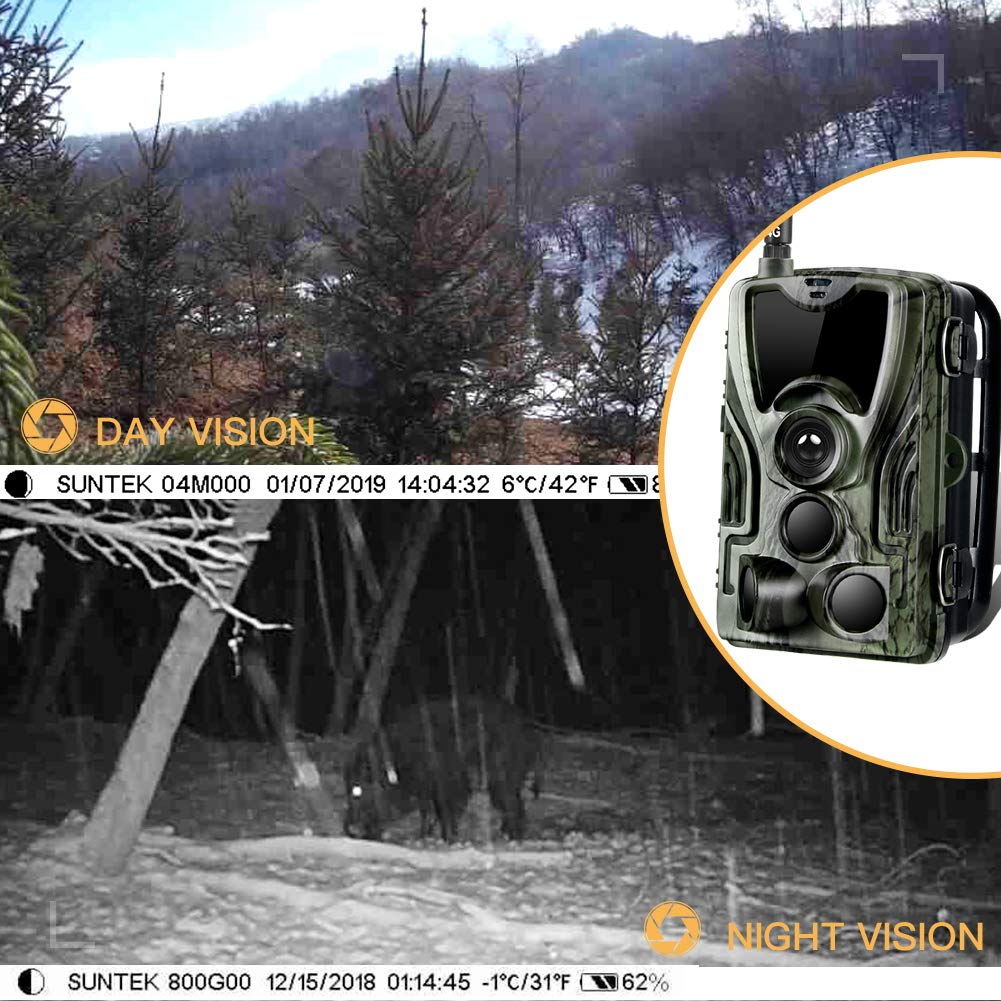Suntekcam 4G LTE Cellular Trail Game Camera, 16MP 1080P Wildlife Hunting Camera(AT&T/Verizon), Micro SD Card and Card Reader Included, Night Vision IP65 Waterproof Cam,0.3s Scouting Camera by Suntekcam (Image #6)