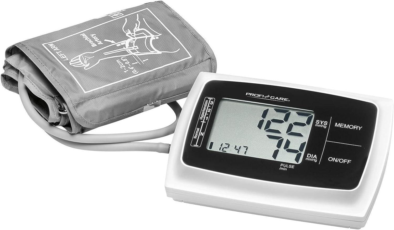 Profesional Care PC de BMG g-3019brazo Tensiómetro, automático de presión arterial y pulso, gran pantalla LCD y botones, 3de valores de mostrar, 2x 60puestos de memoria, incluye bolsa