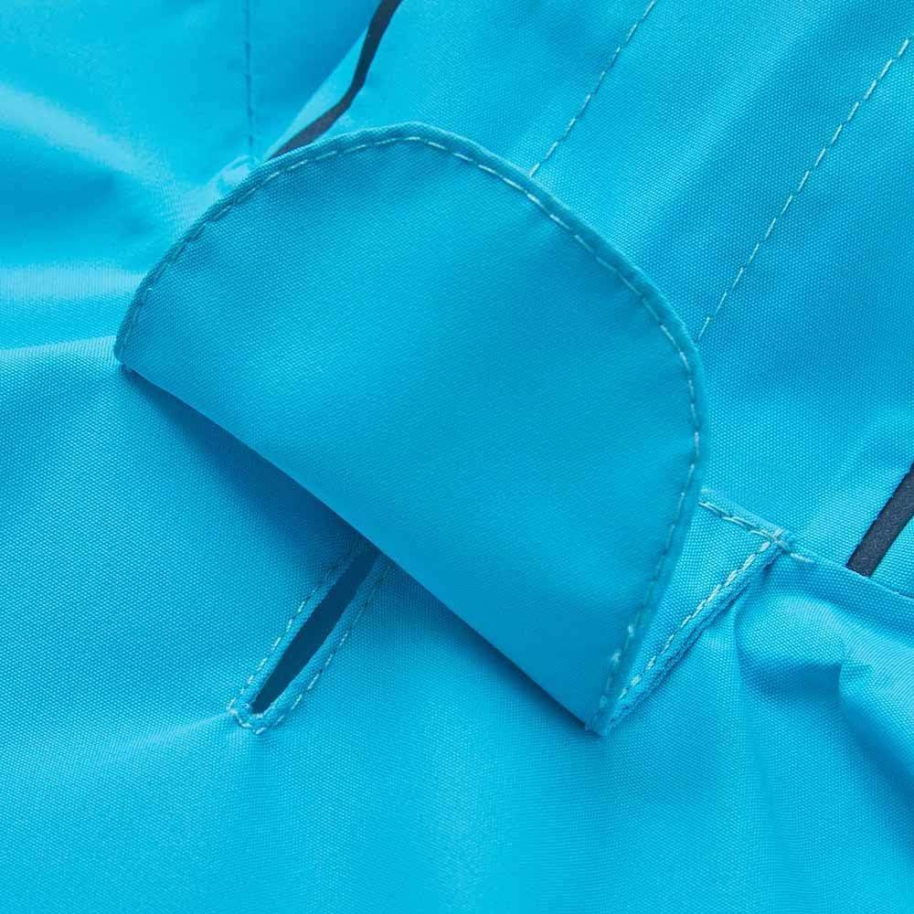 con Doppio Foro per Le Zampe Blu 64 cm Essential UMI Impermeabile Catarifrangente Leggero con Cappuccio e Foro per guinzaglio