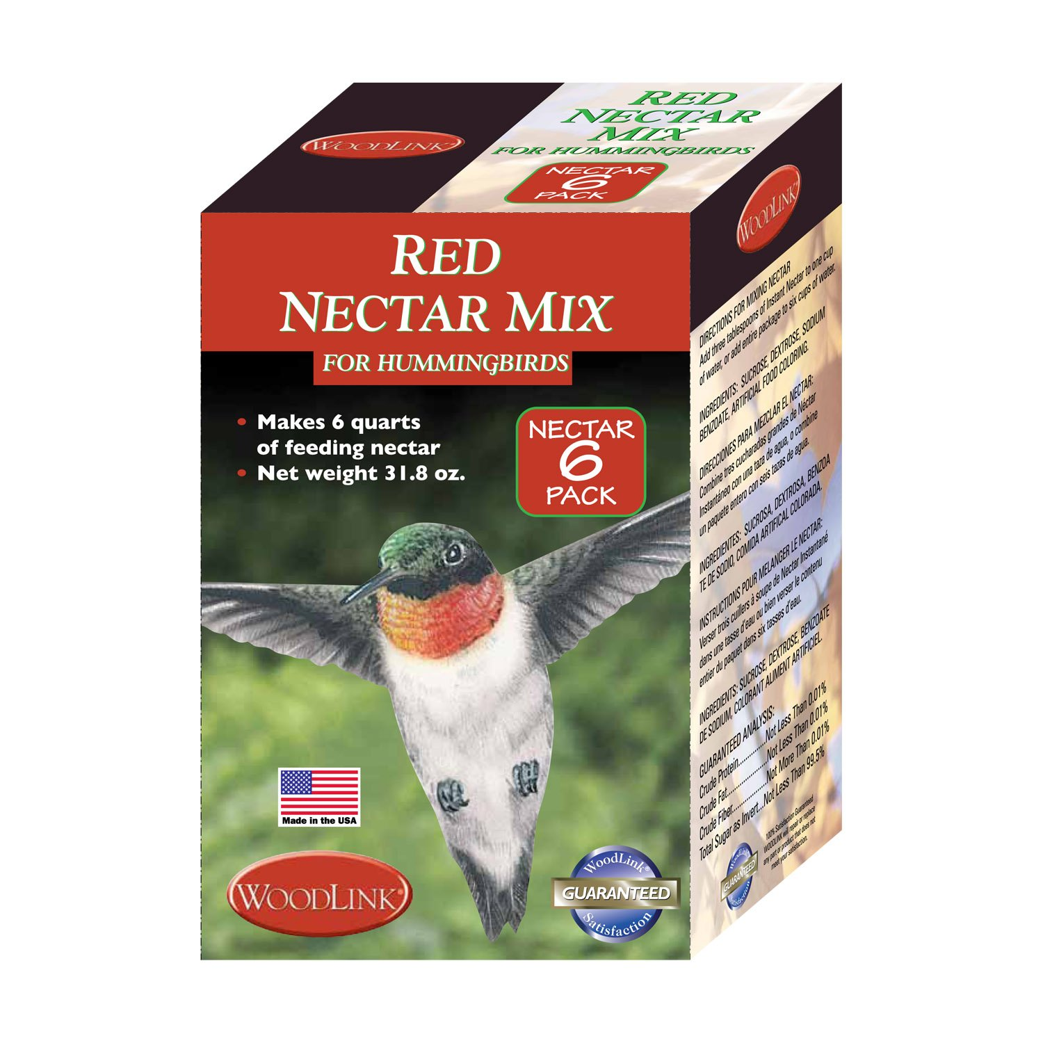 Red Hummingbird Nectar, 6-Pack