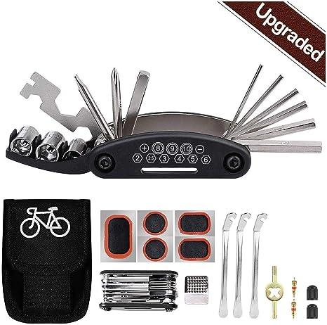 Tagvo Kit de herramientas para bicicleta, 16 en 1 Herramienta ...