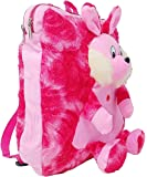 TYPIFY® Velvet Kids Hanging Teddy Soft Touch School/Nursery/Picnic/Carry/Travelling Bag - 2 to 5 Age