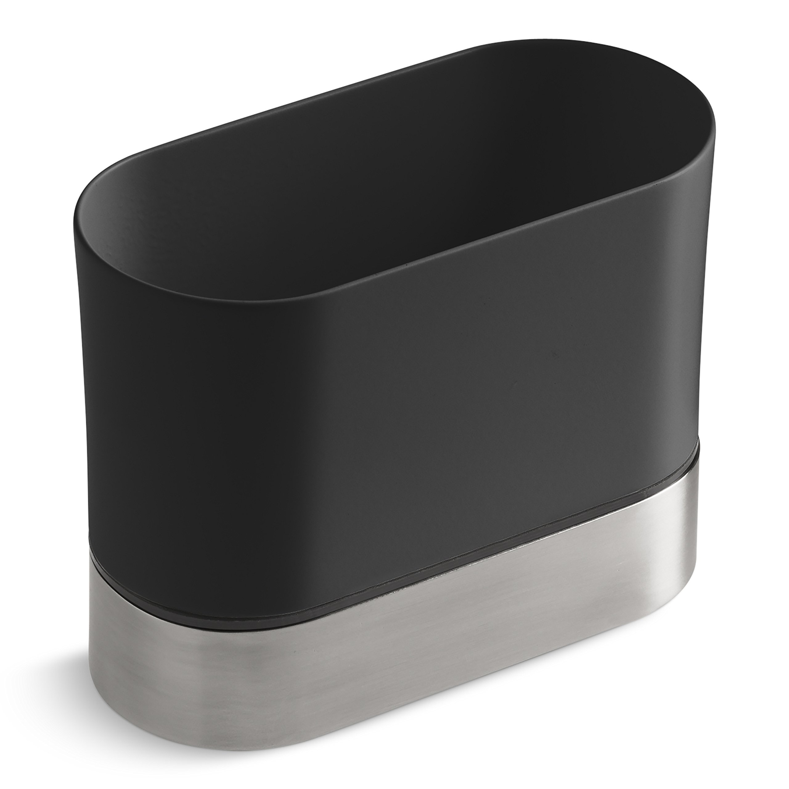 KOHLER Kitchen Dish Brush Holder, Sink Caddy, Silicone and Stainless Steel, Charcoal by Unknown