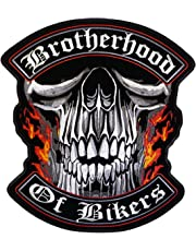 "Hot Leathers Brotherhood Of Bikers Patch (11"" Width x 12"" Height)"