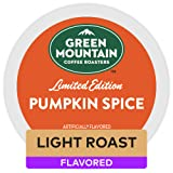 Green Mountain Coffee Roasters Pumpkin Spice, Single-Serve Keurig K-Cup Pods, Flavored Light Roast Coffee, 72 Count