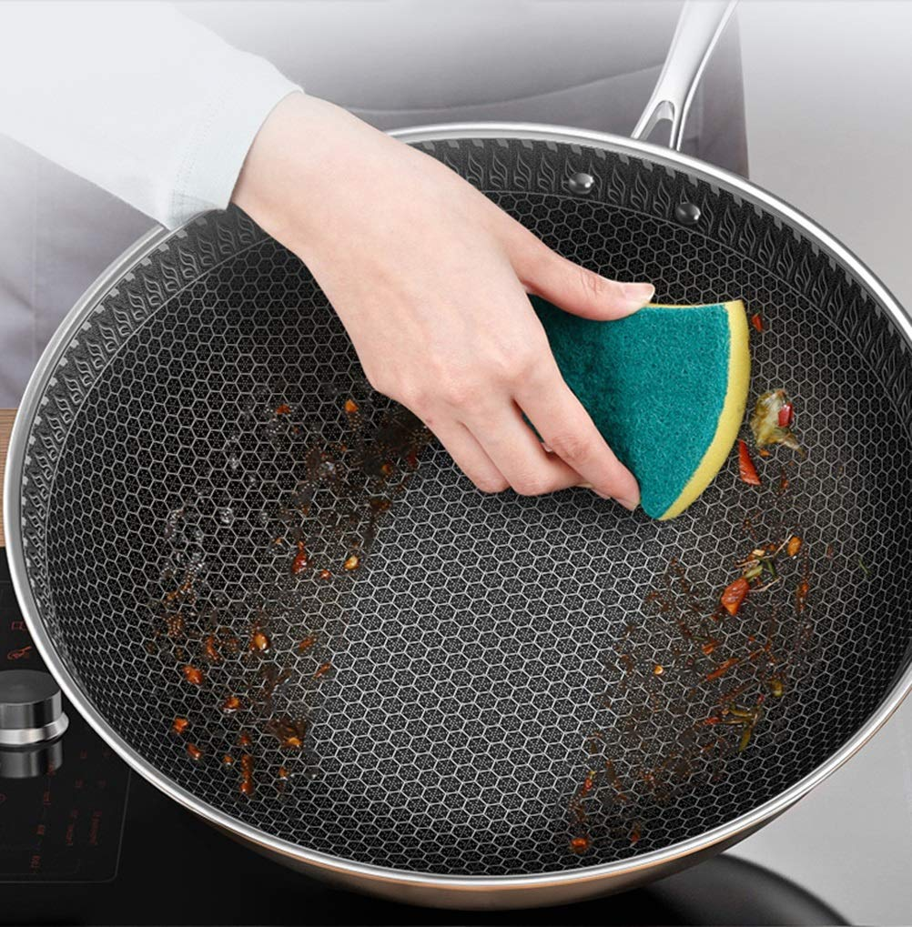 WYQSZ Wok - Wok Home Non-stick Pan Uncoated Multi-purpose Wok Smokeless Durable Wok -fry pan 2365 by WYQSZ (Image #7)