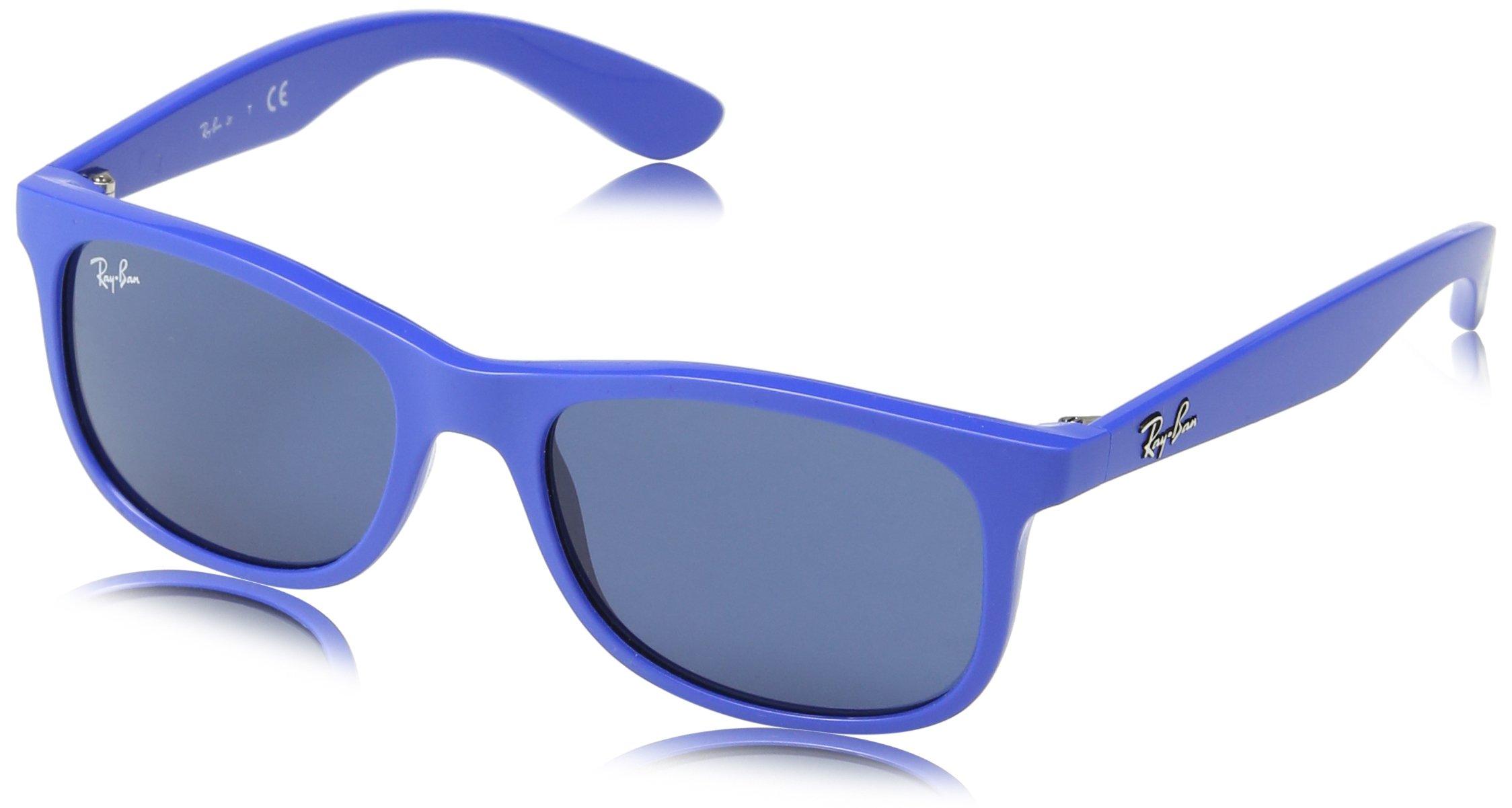 Ray-Ban Junior 0rj9062s Rectangular Sunglasses, Matte Blue, 48 mm