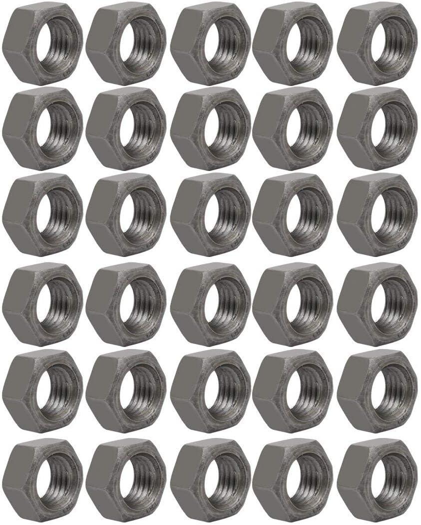 30Stk M18 Gewinde 2,5mm Steigung Metrisch Gewinde Kohlenstoffstahl Hex Mutter