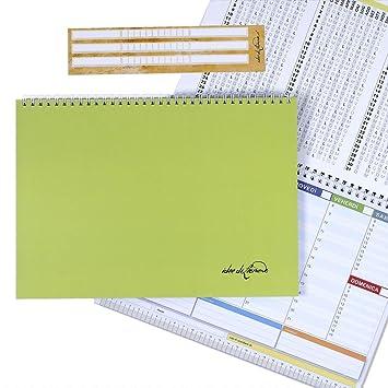 Campus Green - Planner Semanal 30 X 21 - Agenda Planner de ...