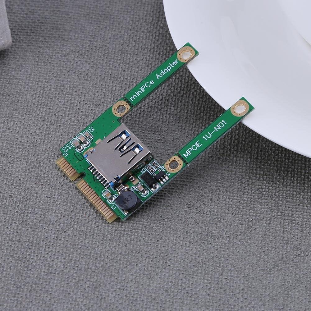 Mini PCI-E a USB 2.0/Adaptador Tarjeta de expansi/ón para ordenador port/átil